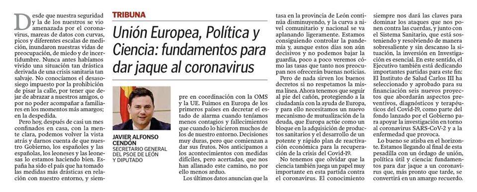 Unión Europea, Política y Ciencia: fundamentos para dar jaque al coronavirus